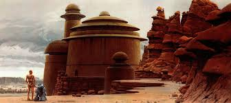 star wars landscapes movies futuristic desert concept art