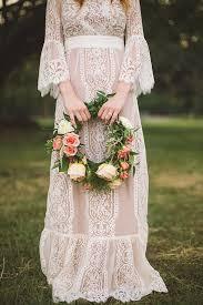 Hippie Wedding Dresses Stunning Vintage Hippie Wedding Gown Flower Child Retro Wedding