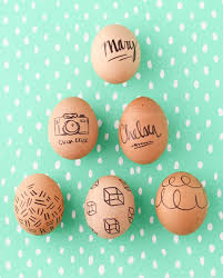 Hard Boiled Eggs For Easter Decorating Make This Super Easy Easter Egg Diy With Sharpies Paper And Stitch