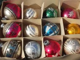 vintage tree ornaments mercury glass balls in boxes