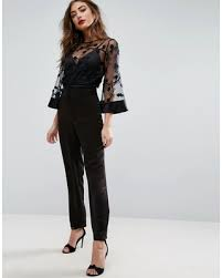 pant jumpsuit deals on asos jumpsuit with lace bodice and