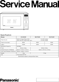 panasonic microwave oven nn sd452w user guide manualsonline com