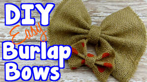 diy crafts make burlap bows for bow ties and gift wrap