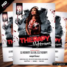 therapy nightmares halloween flyer is a premiumpsd flyer template