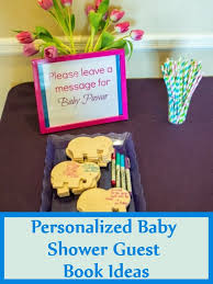 baby shower guest book ideas 5 personalized baby shower guest book ideas bash corner
