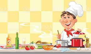 kitchen chef chef cooking in the kitchen stock vector art more images of