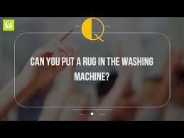 Washing Rug Can You Put A Rug In The Washing Machine Youtube
