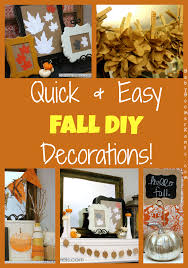 Fall Homemade Decorations - quick and easy fall diy decorations