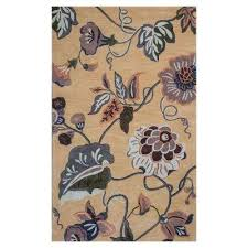 Fall Area Rugs Floral 8 X 11 Gold Area Rugs Rugs The Home Depot