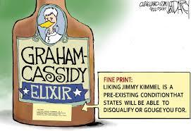 kimmel not buying graham cassidy snake oil darcy cartoon