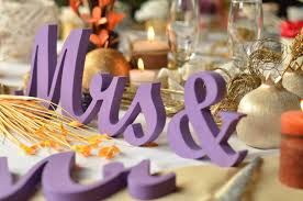 purple wedding centerpiece glitter sign mr u0026 mrs wedding