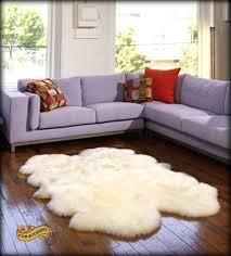 White Fur Area Rug Appealing Brilliant Accents Sheepskin Area Rug Quatro Design