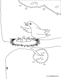 bird nest coloring pages hellokids com