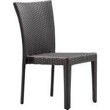 Outdoor Modern Dining Chair Zuo Modern 701360 Arica Indoor Outdoor Dining Chair In Espresso