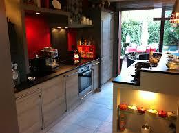 cuisine noir et rouge indogate com rangement chambre fille ikea