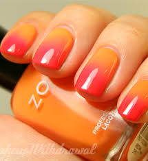 Pretty Orange Orange And Pink Nail Art Pink Nails Beautiful Nail Designs And