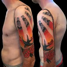 frank ready tattoos tattoos color traditional sunset