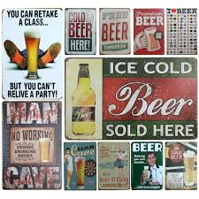 Wholesale Vintage Home Decor by Online Buy Wholesale Vintage Beer Signs From China Vintage Beer