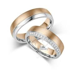 Couple Wedding Rings by Matching Wedding Bands His U0026 Hers Wedding Rings Set 14k Gold Two