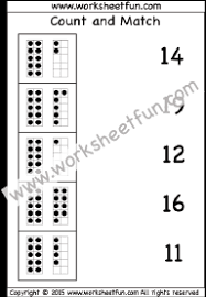 count and match u2013 numbers 1 20 u2013 four worksheets free printable