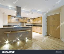 modern luxury open plan kitchen breakfast stock photo 45269461