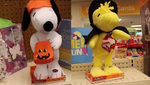 halloween 2015 animatronic snoopy and woodstock figures peanuts