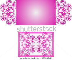 laser cut wedding invitation template may stock vector 521918305