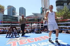 canelo vs golovkin los angeles media workout quotes video replay