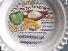 personalized pie plate ceramic vintage royal china jeannette recipe pie plate apple pie bakeware