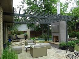 pergola roof ideas patio contemporary with potted plants outdoor