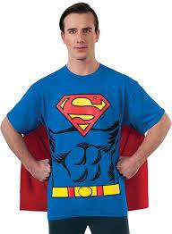 party city halloween costumes fresno ca amazon com dc comics superman costume t shirt with cape clothing