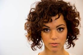 how to cut your own curly hair in layers a line bob haircut on curly hair on the road education paul