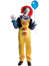 men u0027s pennywise deluxe costume tv u0026 movie costumes for kids u0026 adults