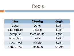 what is the latin root meaning light roots of vocabulary