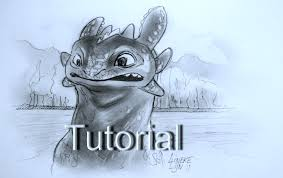 draw toothless train dragon