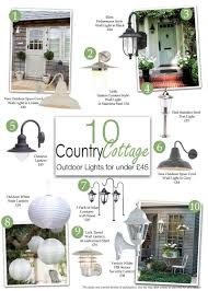 country style outdoor lighting 10 country cottage style outdoor lights for under 45 litecraft
