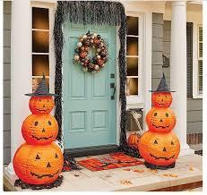 Halloween Lighted Pumpkin Decorations by Halloween Pumpkin Decorations 2 Lighted Yard Porch Stack Outdoor