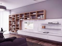 chic look with bookshelves for living room u2013 white living room