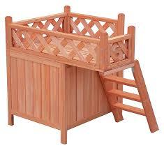 amazon com merax indoor outdoor pet dog wood house with side