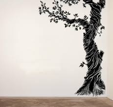 interior plant a tree on wall with exhilarating vinyl