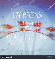 Life Begins Outside Of Your Comfort Zone Vector Motivational Poster Life Begins End Stock Vector 296340797