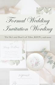 quick guide to wedding invitation wording etiquette pink