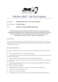 Job Description Of A Line Cook For Resume by Sample Cook Resume