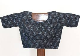 gray blouse grey and blue blockprinted blouse desically ethnic