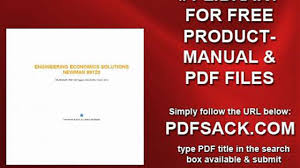 engineering economics solutions newman 99120 video dailymotion