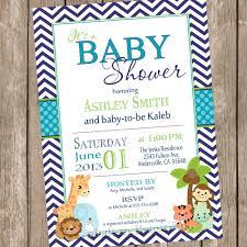 boy safari baby shower invitation safari chevron teal