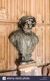 bronze bust of henry viii tudor king of england the vyne stock