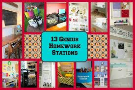 13 genius homework stations diy for life