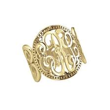 Gold Monogram Ring Monogram 10k Gold Jewelry Be Monogrammed