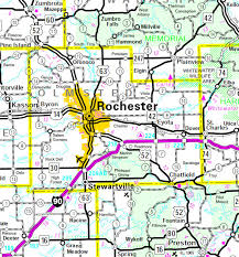 rochester mn map olmsted county minnesota guide